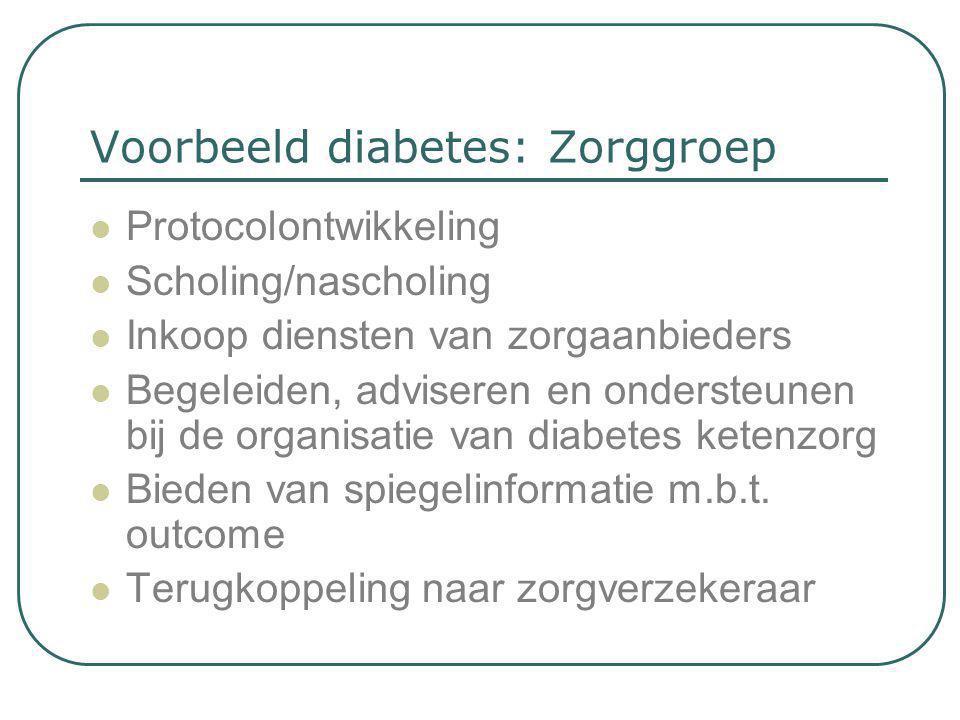 Voorbeeld diabetes: Zorggroep