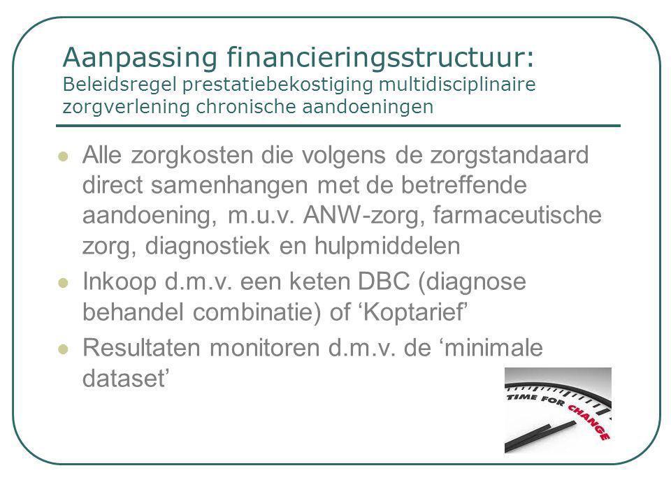 Aanpassing financieringsstructuur: Beleidsregel prestatiebekostiging multidisciplinaire zorgverlening chronische aandoeningen