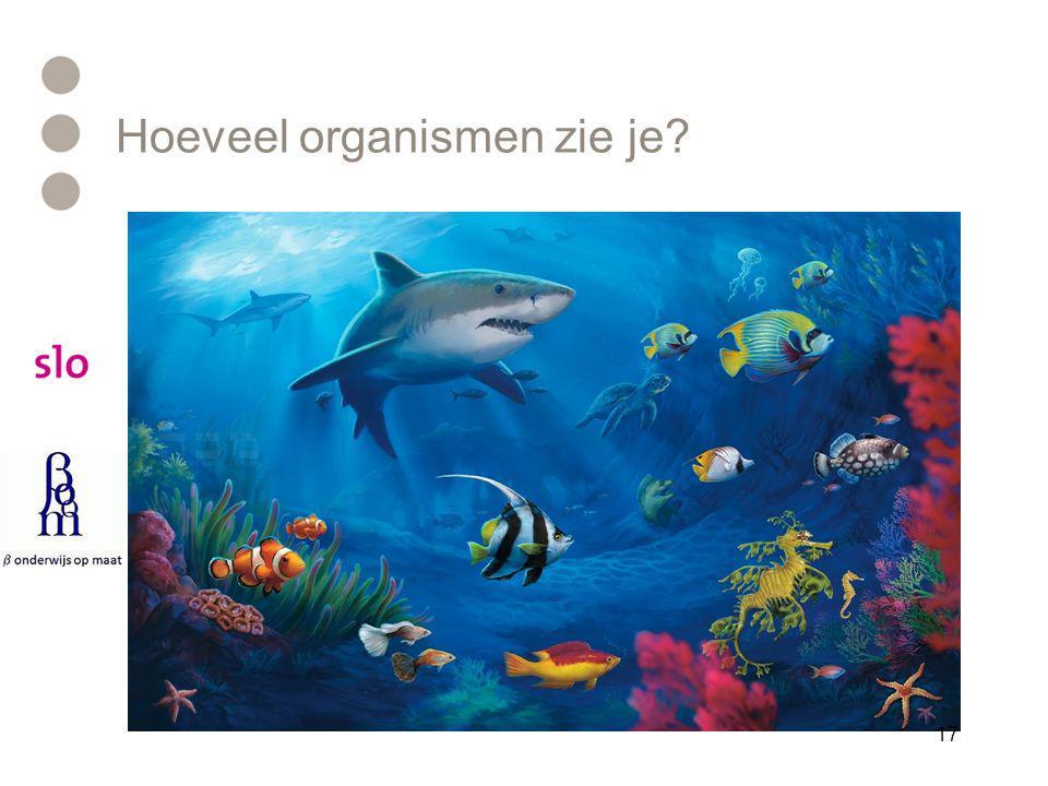 Hoeveel organismen zie je