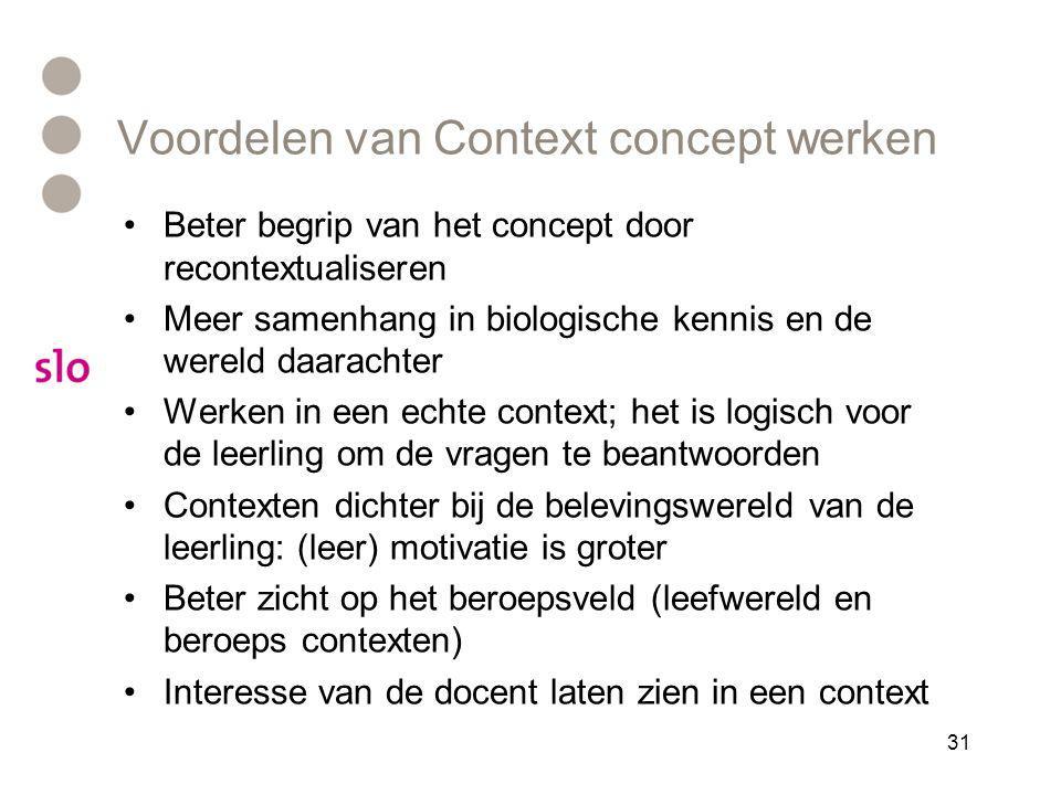 Voordelen van Context concept werken