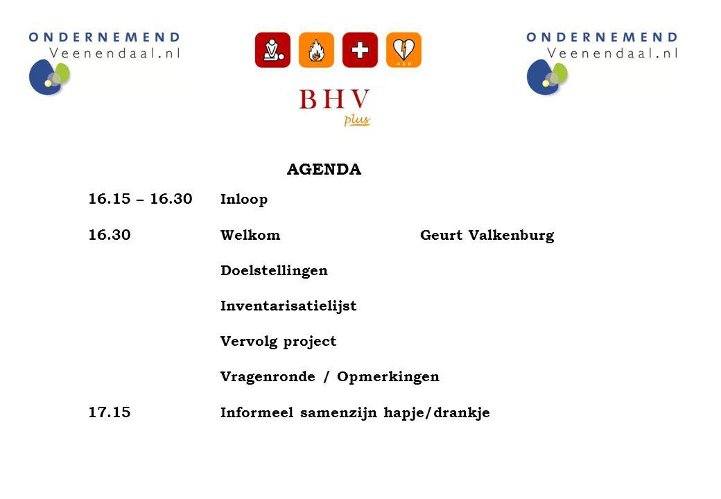 16.30 Welkom Geurt Valkenburg Doelstellingen Inventarisatielijst