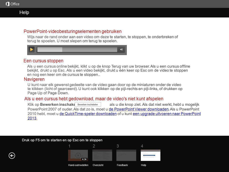Help Help PowerPoint-videobesturingselementen gebruiken