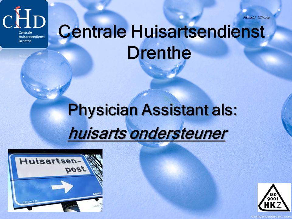 Ronald Officier Centrale Huisartsendienst Drenthe