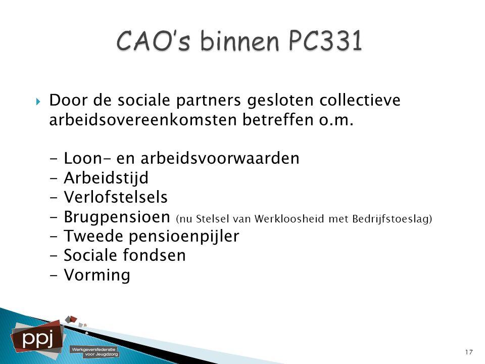 CAO's binnen PC331