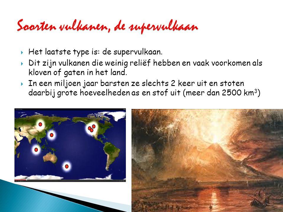 Soorten vulkanen, de supervulkaan