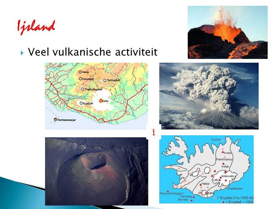Ijsland Veel vulkanische activiteit