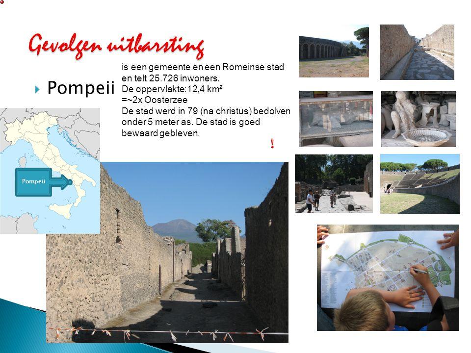 Gevolgen uitbarsting Pompeii
