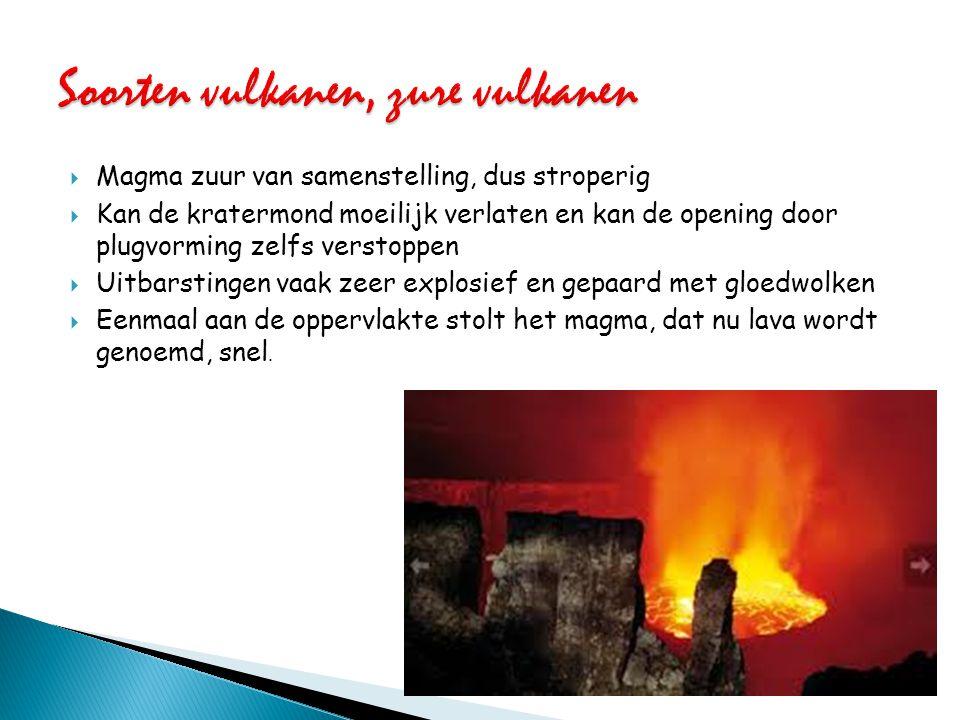 Soorten vulkanen, zure vulkanen