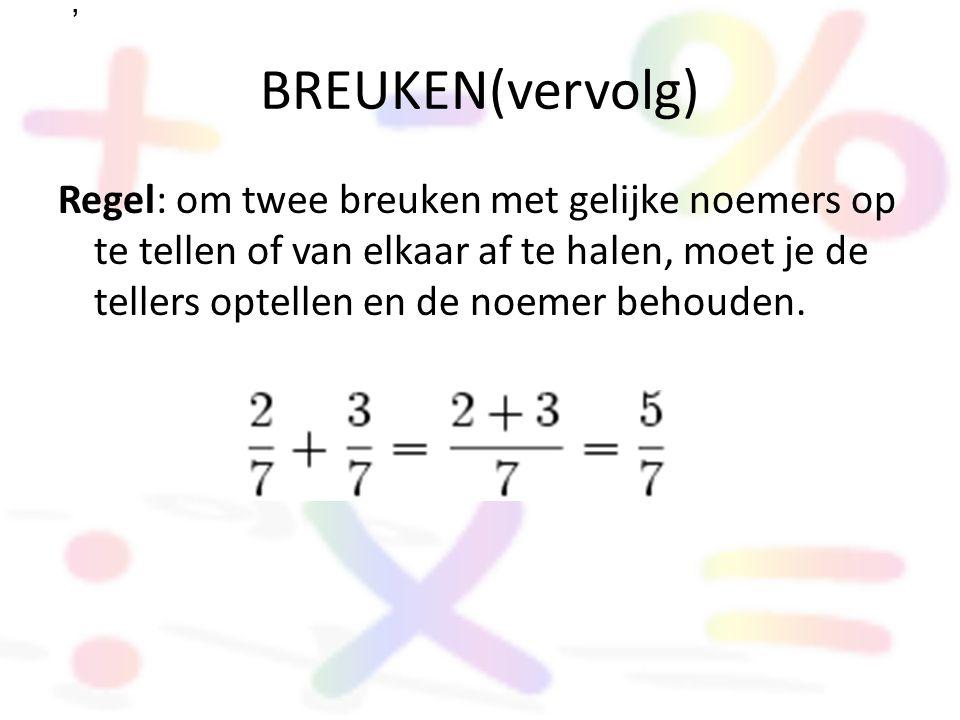 , BREUKEN(vervolg)