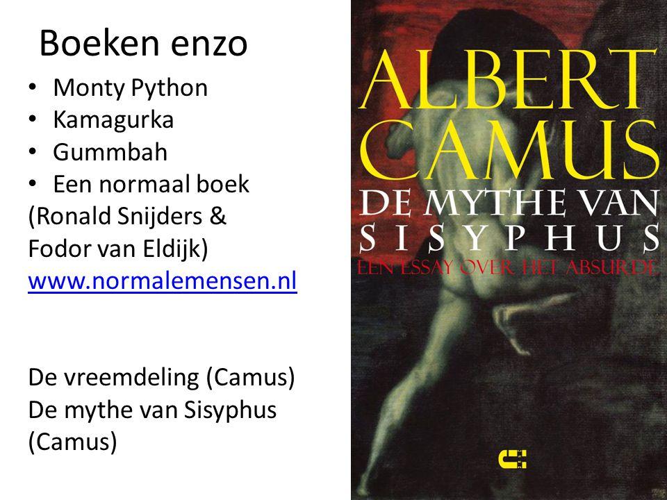 Boeken enzo Monty Python Kamagurka Gummbah Een normaal boek