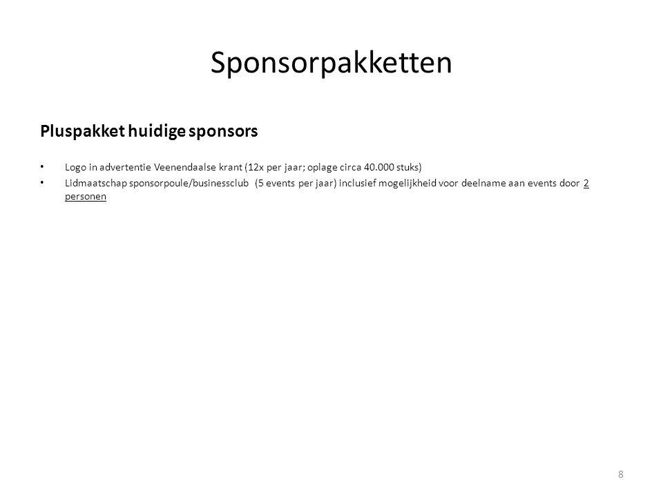 Sponsorpakketten Pluspakket huidige sponsors