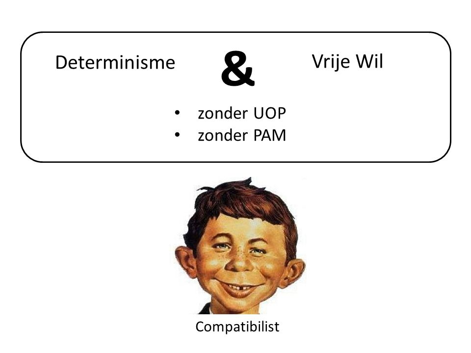 & Determinisme Vrije Wil zonder UOP zonder PAM Compatibilist