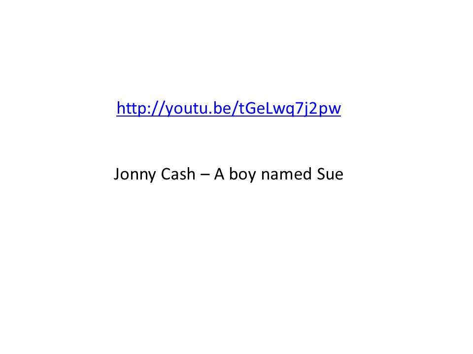 Jonny Cash – A boy named Sue