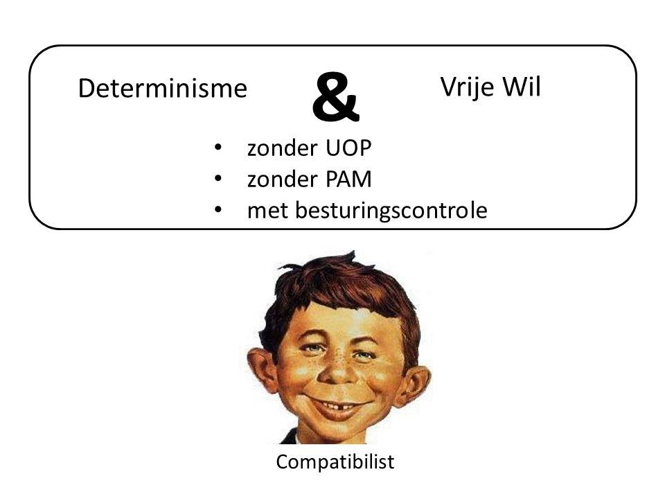& Determinisme Vrije Wil zonder UOP zonder PAM met besturingscontrole