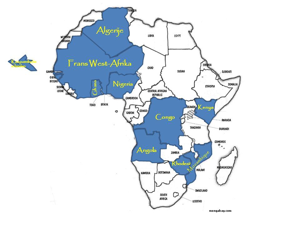 Algerije Frans West-Afrika Nigeria Congo Angola Kenya Mozambique Ghana