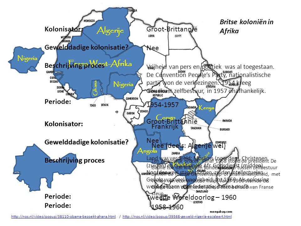 Britse koloniën in Afrika Kolonisator: Gewelddadige kolonisatie