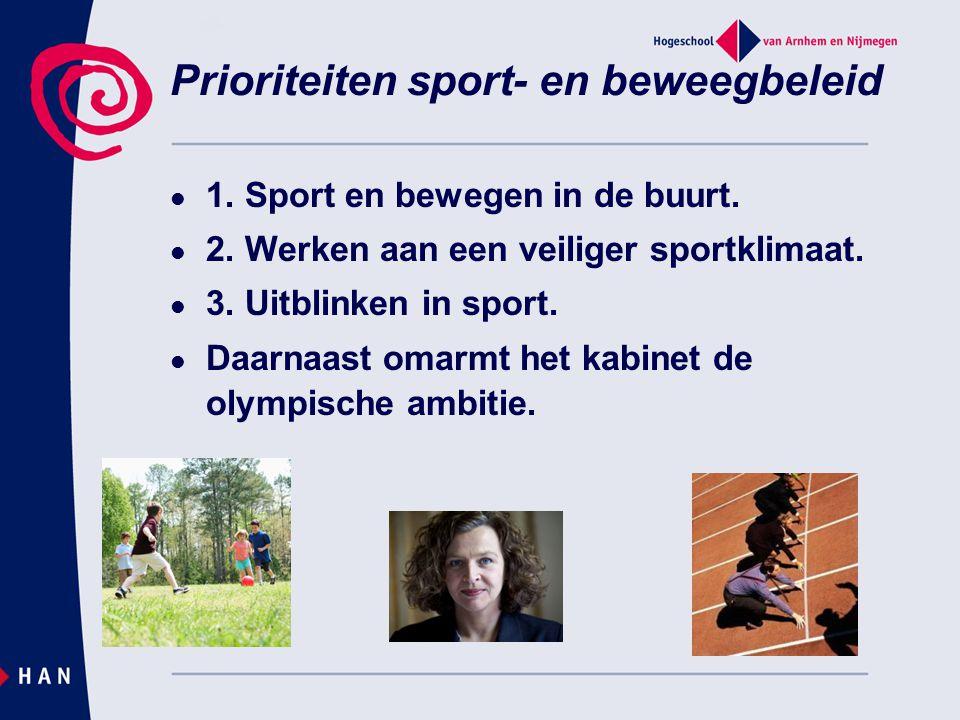 Prioriteiten sport- en beweegbeleid