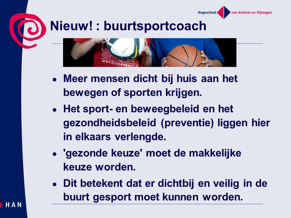 Nieuw! : buurtsportcoach
