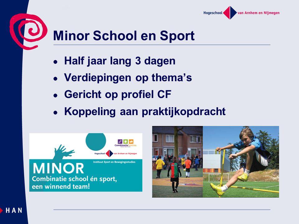 Minor School en Sport Half jaar lang 3 dagen Verdiepingen op thema's