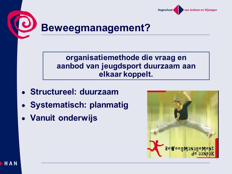 organisatiemethode die vraag en aanbod van jeugdsport duurzaam aan
