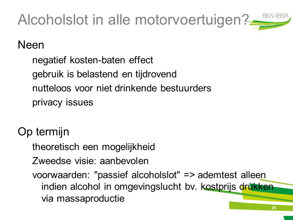 Alcoholslot in alle motorvoertuigen