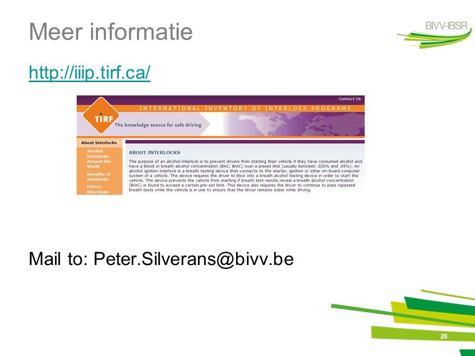 Meer informatie http://iiip.tirf.ca/ Mail to: Peter.Silverans@bivv.be