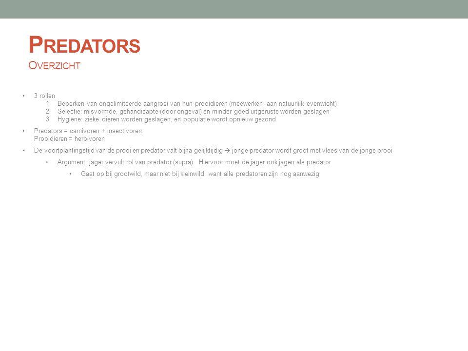 Predators Overzicht 3 rollen