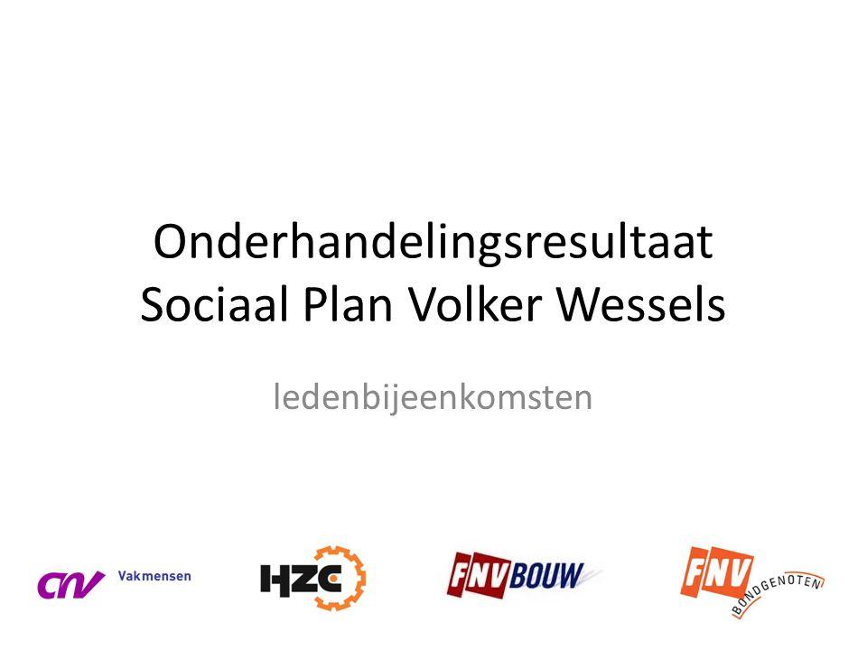 Onderhandelingsresultaat Sociaal Plan Volker Wessels