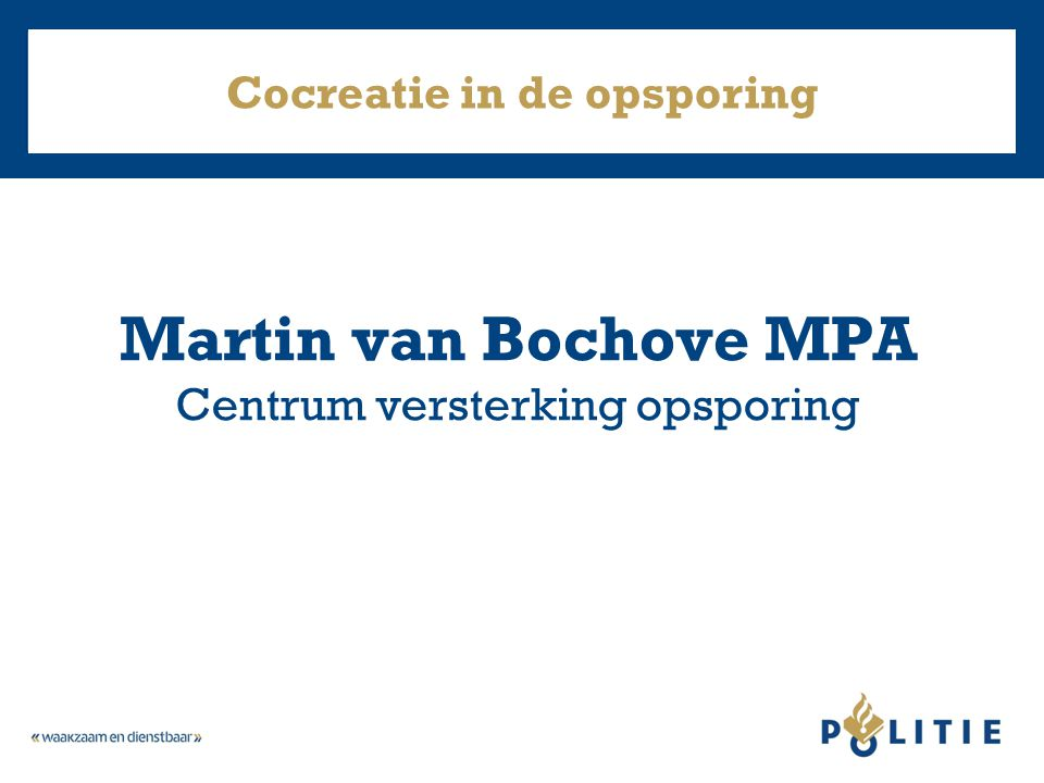 Cocreatie in de opsporing