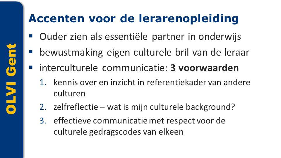 OLVI Gent Accenten voor de lerarenopleiding