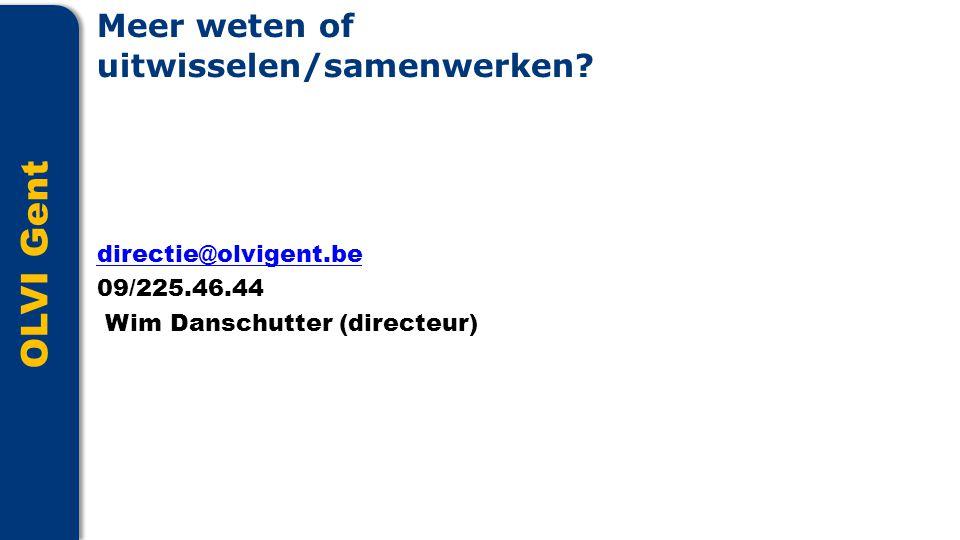 OLVI Gent Meer weten of uitwisselen/samenwerken