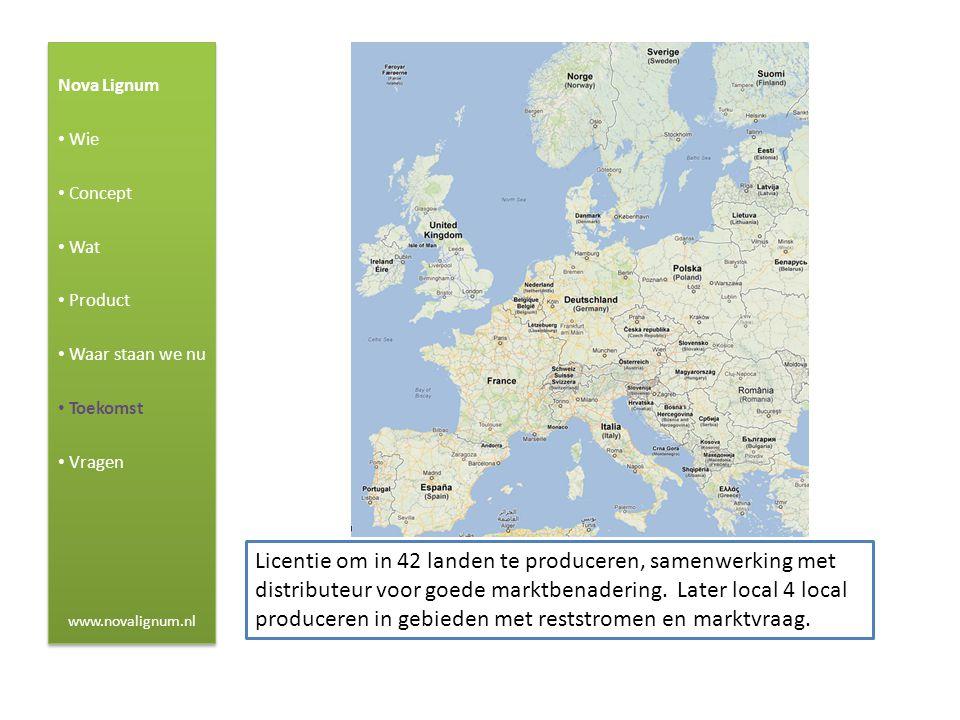 Nova Lignum Wie. Concept. Wat. Product. Waar staan we nu. Toekomst. Vragen. www.novalignum.nl.