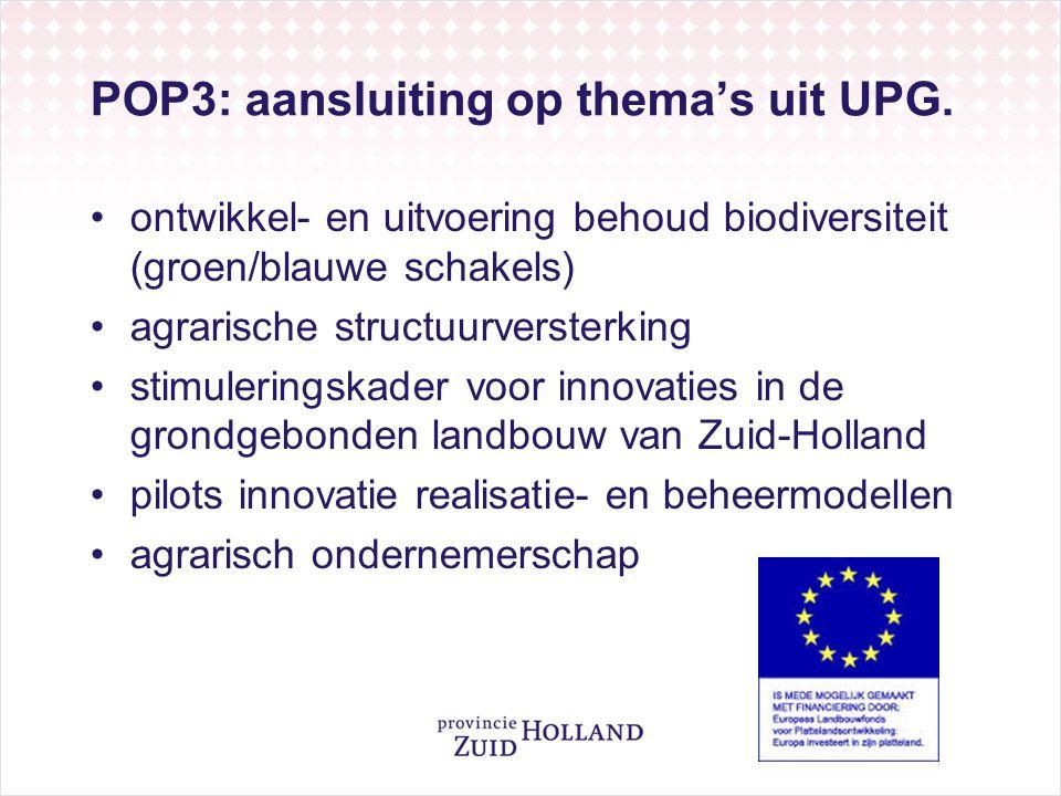 POP3: aansluiting op thema's uit UPG.