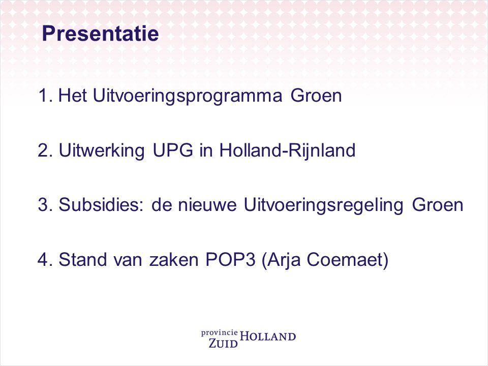 Presentatie Het Uitvoeringsprogramma Groen