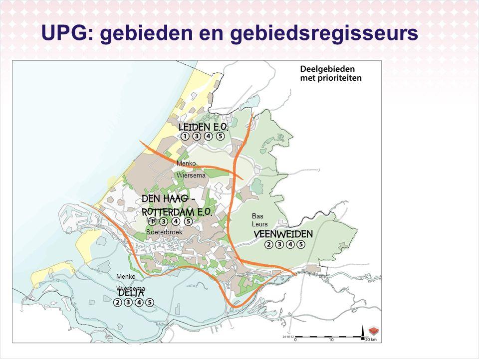 UPG: gebieden en gebiedsregisseurs
