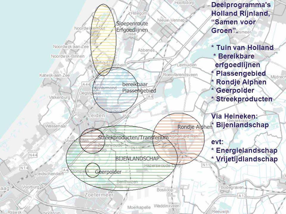 Deelprogramma s Holland Rijnland, Samen voor Groen . Tuin van Holland