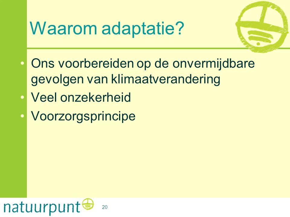 Neem de mensen mee: Les 3 Waarom adaptatie Ons voorbereiden op de onvermijdbare gevolgen van klimaatverandering.