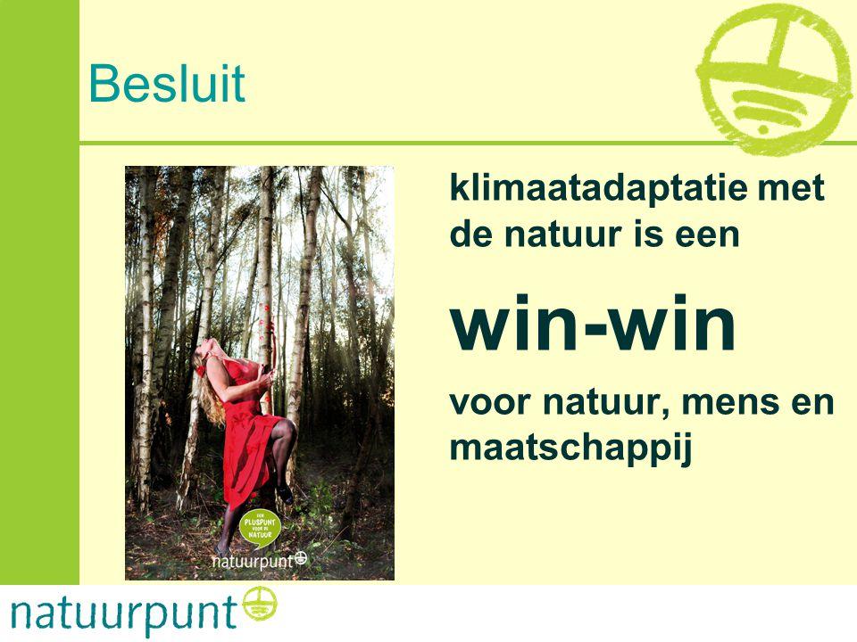 win-win Besluit klimaatadaptatie met de natuur is een