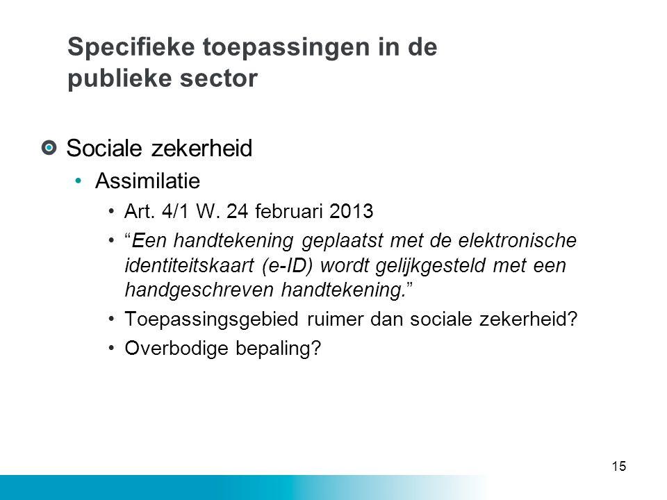 Specifieke toepassingen in de publieke sector