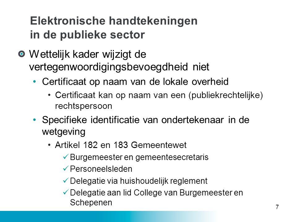 Elektronische handtekeningen in de publieke sector
