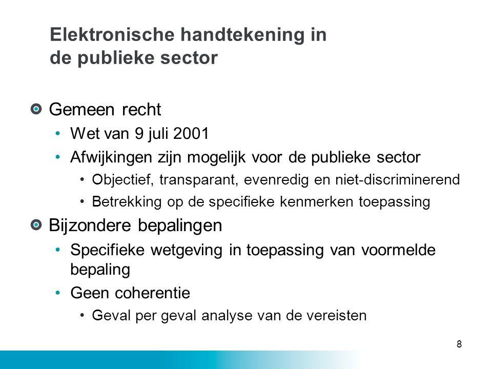 Elektronische handtekening in de publieke sector