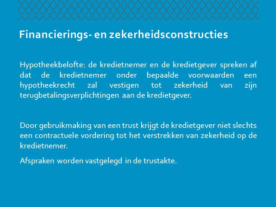 Financierings- en zekerheidsconstructies