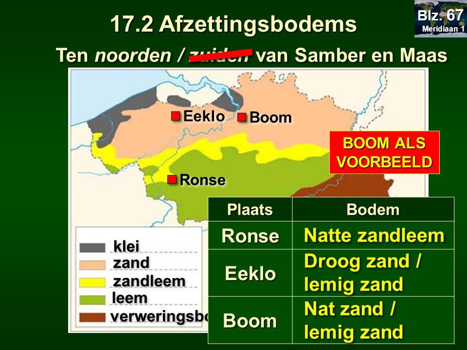 17.2 Afzettingsbodems Ten noorden / zuiden van Samber en Maas Ronse