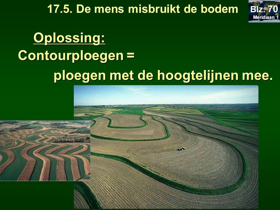 17.5. De mens misbruikt de bodem ploegen met de hoogtelijnen mee.