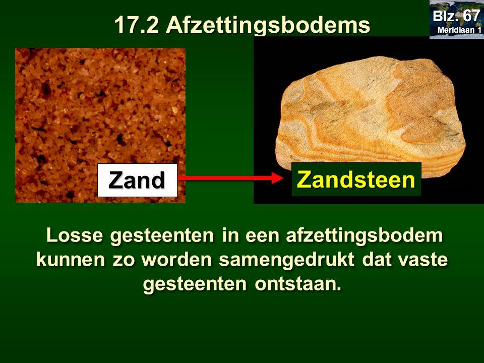 17.2 Afzettingsbodems Zand Zandsteen