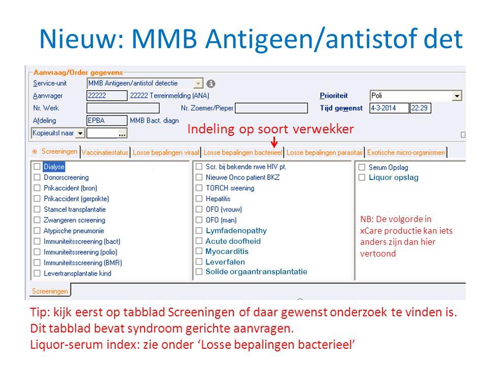 Nieuw: MMB Antigeen/antistof det