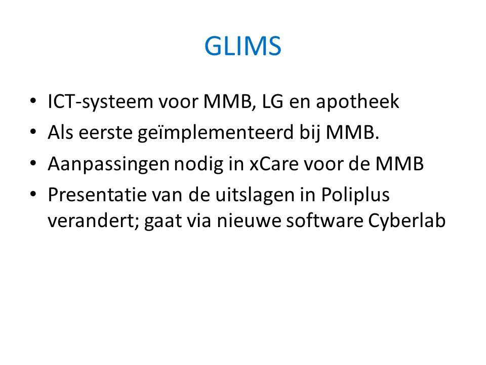 GLIMS ICT-systeem voor MMB, LG en apotheek