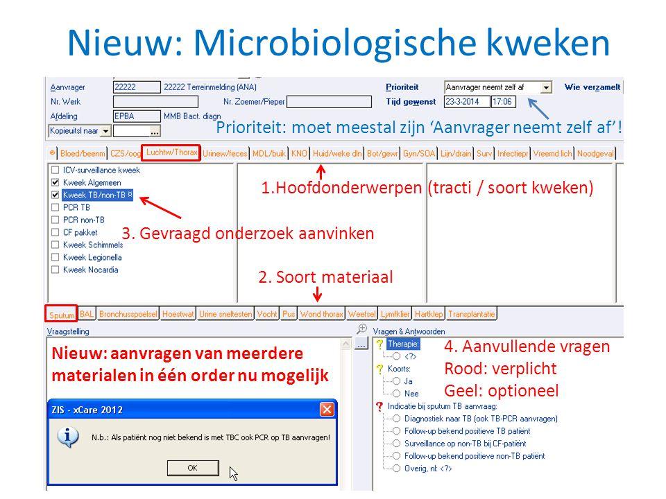 Nieuw: Microbiologische kweken