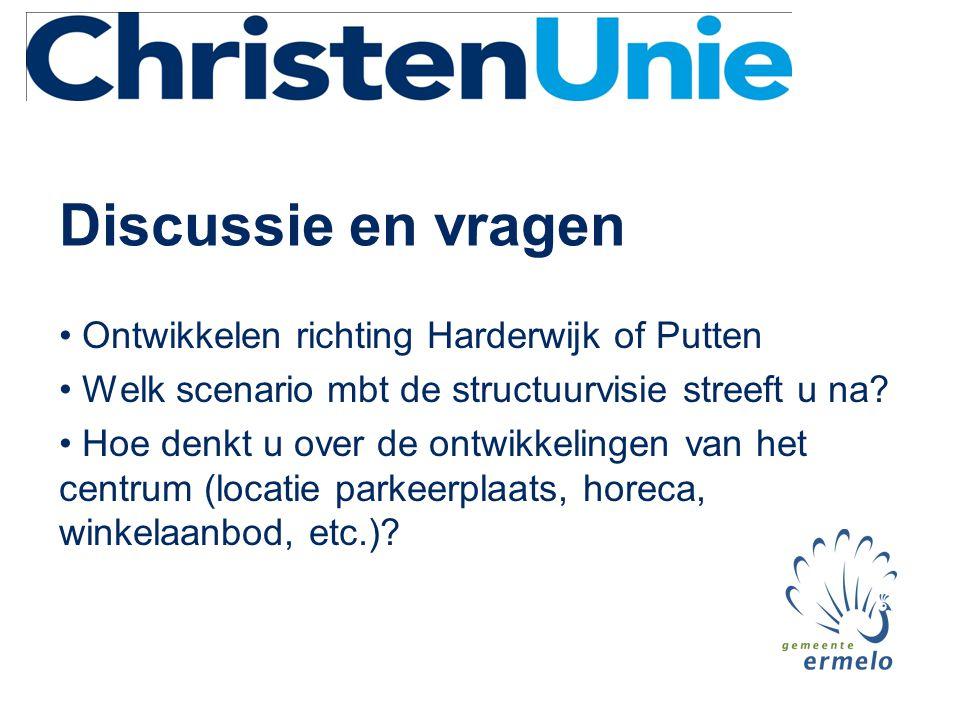 Discussie en vragen Ontwikkelen richting Harderwijk of Putten
