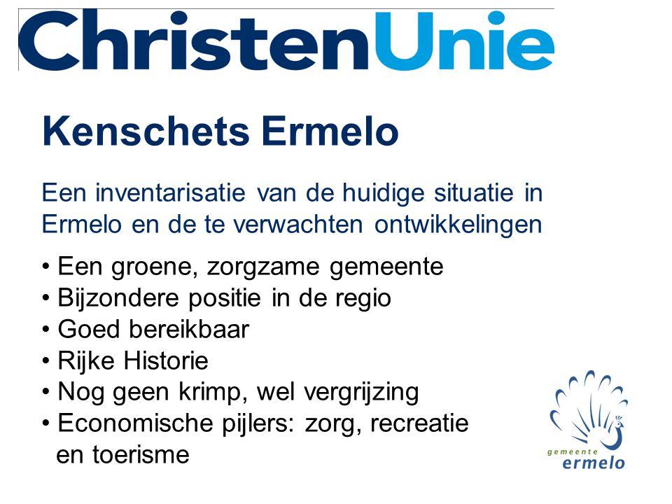 Kenschets Ermelo Een inventarisatie van de huidige situatie in Ermelo en de te verwachten ontwikkelingen.